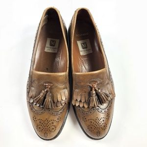 a06b0cb2e80 ... Leather Shoes.  58  0. Bruno Magli Mens 9.5 Brown Wing Tip Tassel  Loafers